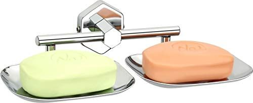 Plantex 304 Grade Stainless Steel Hex Dual Soap Holder for Bathroom/Soap Stand/Soap Dish/Bathroom Accessories