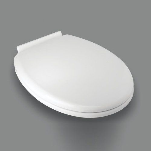 Plantex Forever Soft Close Hydraulic Plastic Toilet Seat Cover (Standard Size, White)