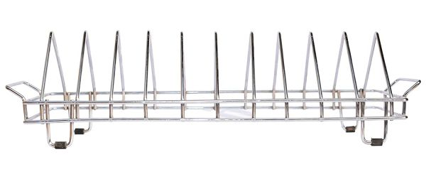 Plantex High Grade Stainless Steel Plate Rack/Dish Rack/Plate Stand/Dish Stand/Utensil Rack/Chrome Plated (10 Plate)