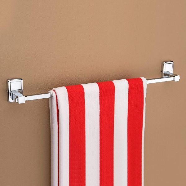 Plantex High Grade Stainless Steel Folding Towel Rack with Stainless Steel 304 Grade Darcy Bathroom Accessories Set 5pcs (Towel Rod/Napkin Ring/Tumbler Holder/Soap Dish/Robe Hook)
