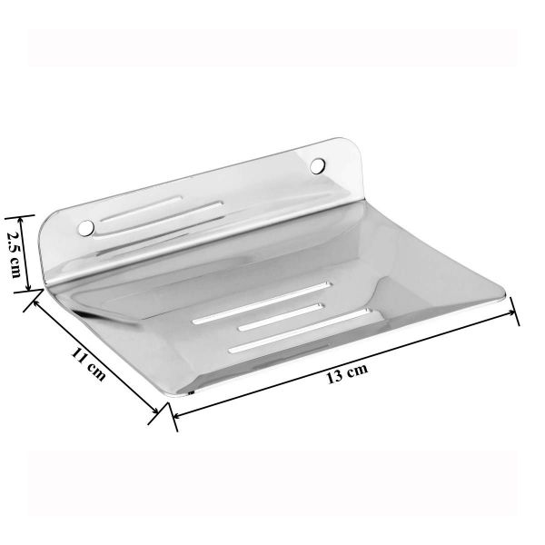 Plantex Stainless Steel Soap Holder for Bathroom/Soap Stand/Soap Dish/Bathroom Accessories(Pack of 1)