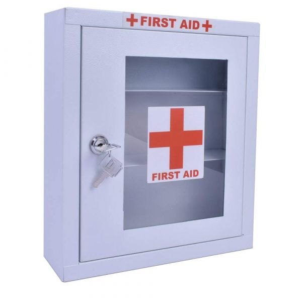 Plantex Emergency First Aid Kit Box/Emergency Medical Box/First Aid Box for Home - School - Office/Wall Mount/Multi Compartment (White)