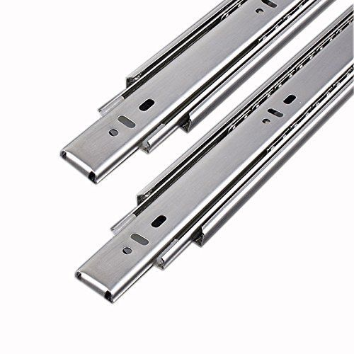 Plantex Stainless Steel 5 Ball Bearing Telescopic Slide/Drawer Channel (16 Inches, Silver)