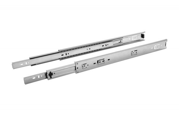 Plantex Stainless Steel 5 Ball Bearing Telescopic Slide/Drawer Channel (10 Inches, Silver)