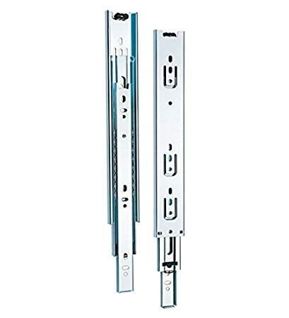 Plantex Stainless Steel 5 Ball Bearing Telescopic Slide/Drawer Channels (22 Inches; Silver)