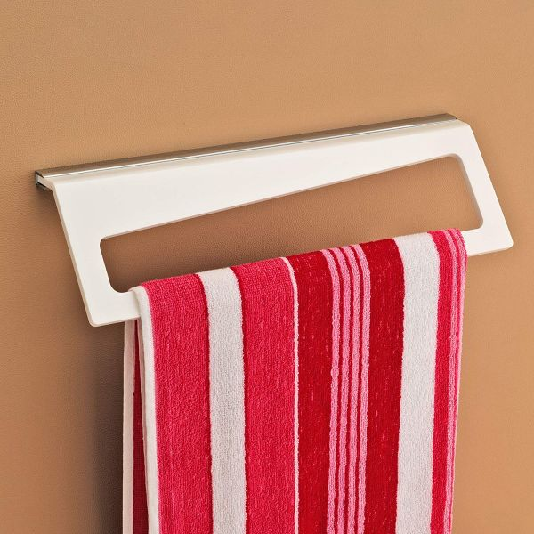 Plantex 8mm Vega Acrylic Towel Rod/Towel Hanger/Towel Stand/Bathroom Accessories for Home(18 inch-White)