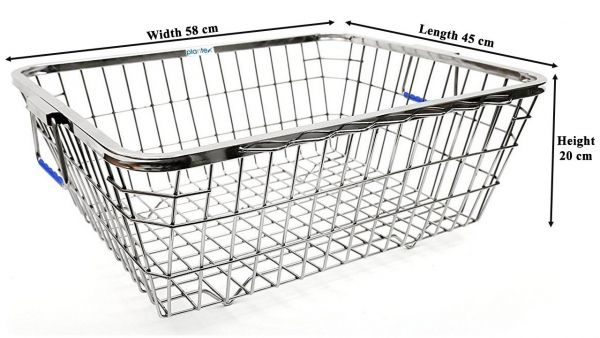 Plantex High Grade Stainless Steel Dish Drainer/Dish Drying Rack/Plate Stand/Kitchen Utensils - Lifetime Warranty (Size 1)