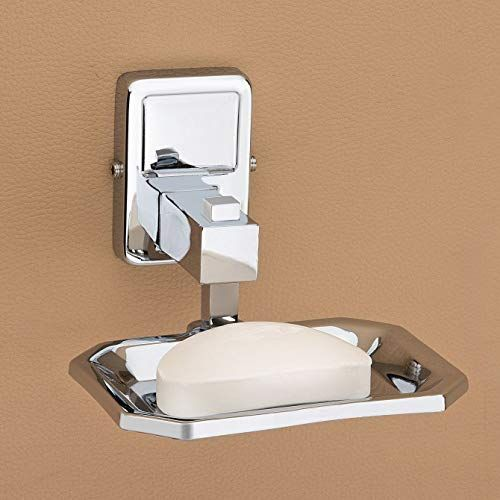 Plantex Darcy Stainless Steel 304 Grade Soap Holder for Bathroom/Soap Dish/Bathroom Soap Stand/Bathroom Accessories (Chrome)