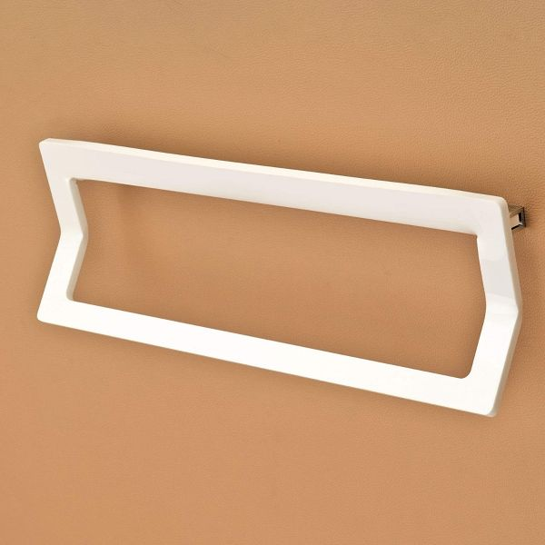 Plantex 8mm Rectus Acrylic Towel Rod/Towel Hanger/Towel Stand/Bathroom Accessories for Home(18 inch-White)