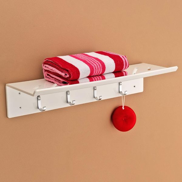 Plantex 8mm Acrylic Towel Rack/Towel Hanger/Towel Stand/Bathroom Accessories for Home(24 inch-White)