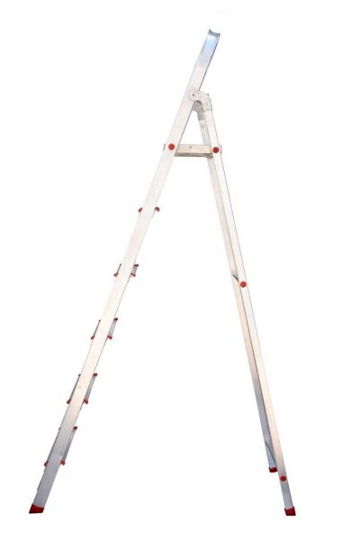 Plantex Classic 6 Step Foldable Aluminium Ladder for Home Use/Step Ladder (Anodize-Silver)