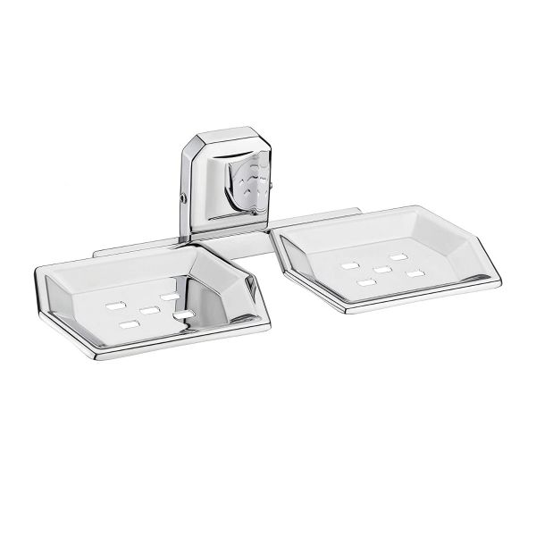 Plantex Cute Stainless Steel 304 Grade Double Soap Holder for Bathroom/Soap Dish/Bathroom Soap Stand/Bathroom Accessories (Chrome)