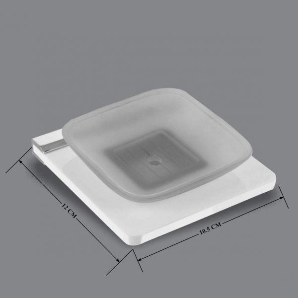 Plantex Opulux 8 mm Acrylic Single Soap Dish/Soap Stand/Bathroom Soap Holder/Bathroom Accessories for Home