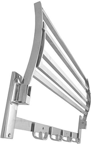 Plantex High Grade Stainless Steel Square Folding Towel Rack/Towel Stand/Hanger/Bathroom Accessories(24 Inches)