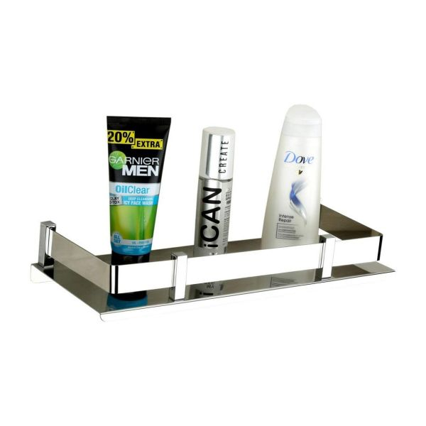 Plantex High Grade Stainless Steel Bathroom Shelf/Kitchen Shelf/Bathroom Shelf and Rack/Bathroom Accessories (12 X 5 Inches)