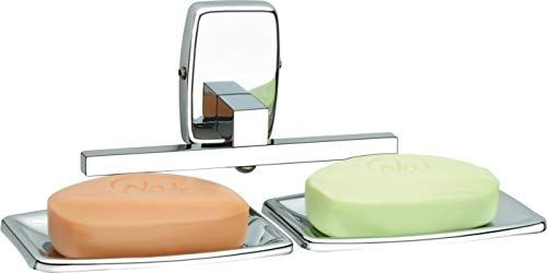 Plantex 304 Grade Stainless Steel Squaro Dual Soap Holder for Bathroom/Soap Stand/Soap Dish/Bathroom Accessories