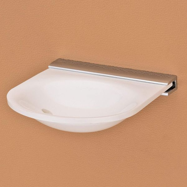 Plantex Crystal 5mm Acrylic Soap Dish/Soap Holder/Soap Stands for Bathroom Wall (White)