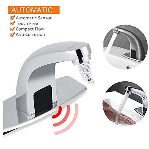 Plantex Automatic Infrared Water Tap, Sensor Faucet for Kitchen Bathroom Sink with Control Box