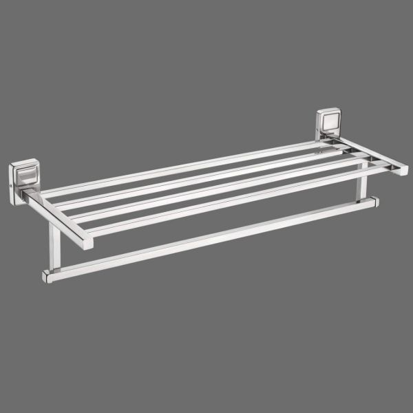 Plantex Stainless Steel 304 Grade Darcy Towel Rack for Bathroom/Towel Stand/Hanger/Bathroom Accessories (24 Inch-Chrome)