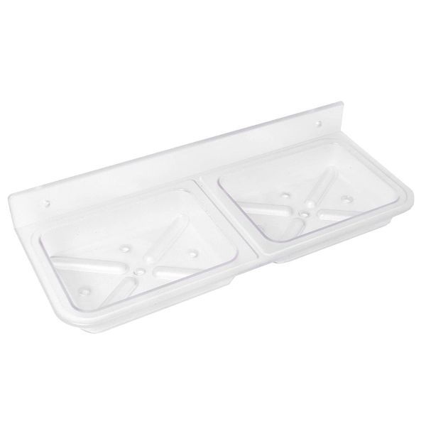 Plantex ABS Plastic Double Soap Dish/Soap Stand/Bathroom Soap Holder/Bathroom Accessories for Home