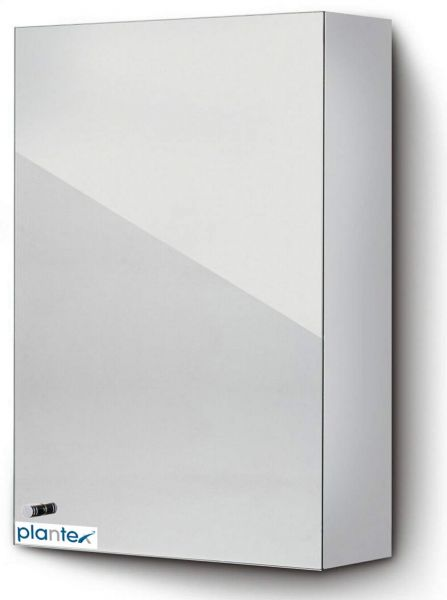 Plantex Logo High Grade 304 Grade Stainless Steel Bathroom Cabinet with Mirror Door/Bathroom Accessories - Size 10 X 16 Inches(Chrome Finish)