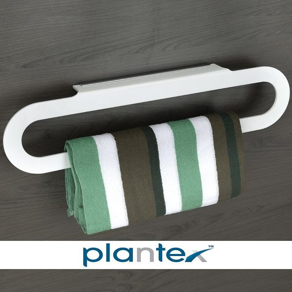 Plantex Acrylic Capsule Rod/Towel Hanger Bathroom Accessories for Home, 18 Inch, White