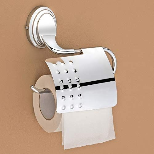 Plantex Cubic Stainless Steel 304 Grade Toilet Paper Roll Holder/Toilet Paper Holder in Bathroom/Kitchen/Bathroom Accessories (Chrome)