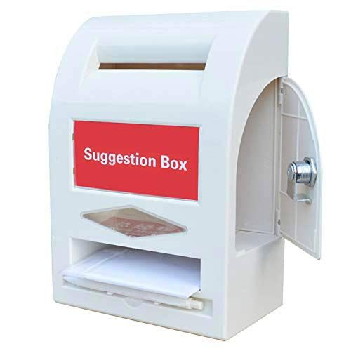 Plantex Multipurpose Letter Box/Suggestion Box/Complaint Box/Donation Box with Lock Table Top or Wall Mount (White)
