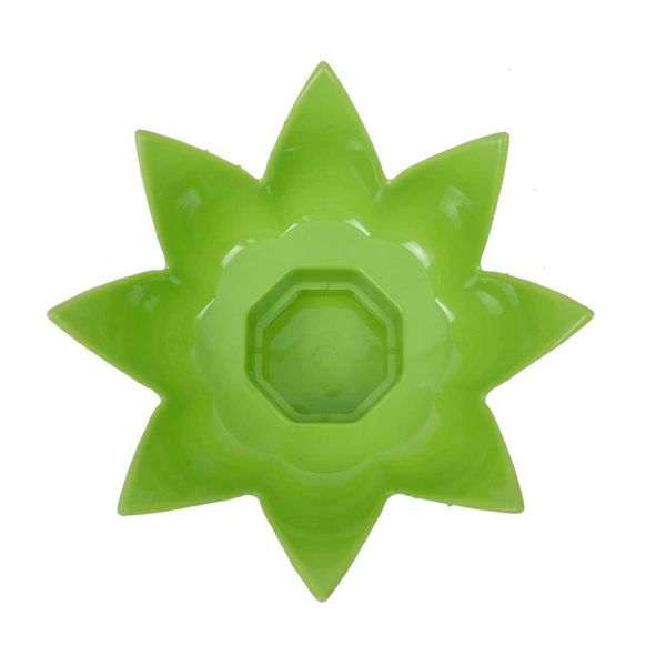 Plantex Lotus Shaped Water Pot/Matka Stand - Plant Pot Stand - Planter Stand - Green