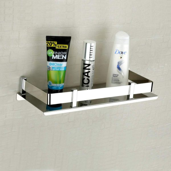 Plantex High Grade Stainless Steel Bathroom Shelf/Kitchen Shelf/Bathroom Shelf and Rack/Bathroom Accessories (15 X 5 Inches)