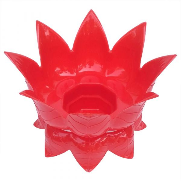 Plantex Lotus Shaped Water Pot/Matka Stand - Plant Pot Stand - Planter Stand - Red