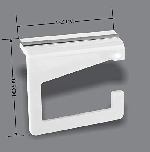 Plantex Opulux 8 mm AcrylicToilet Paper Roll Holder/Toilet Paper Holder in Bathroom/Kitchen/Bathroom Accessories