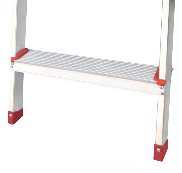Plantex 4 Step Foldable Aluminium Ladder for Home Use/Step Ladder (Silver)