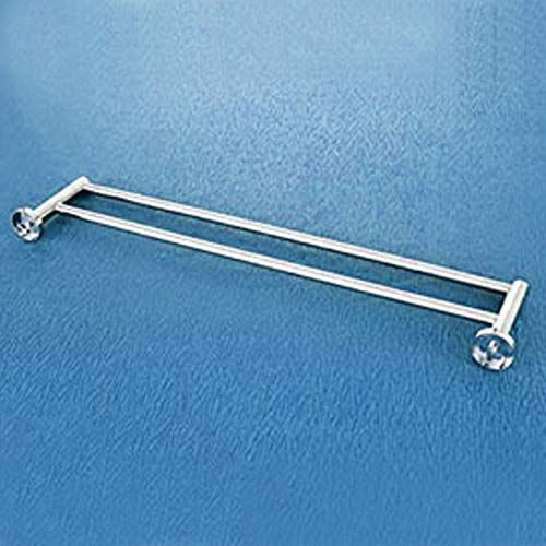 Plantex Stainless Steel Heavy and Sturdy Towel Rod/Towel Rack for Bathroom/Towel Bar/Hanger/Stand/Bathroom Accessories (24 Inch - Chrome Finish)