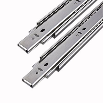 Plantex Steel 5 Ball Bearing Telescopic Drawer Channel (Silver, 14 Inches)
