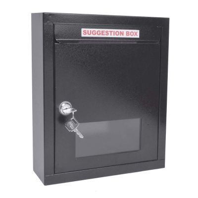 Plantex All in 1 Multipurpose Letter Box/Suggestion Box/Complaint Box/Donation Box with Lock Table Top or Wall Mount (Black)