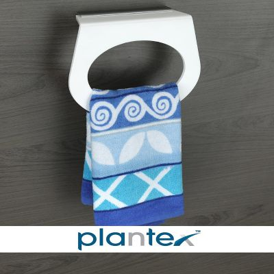 Plantex Ring Acrylic Towel Holder Stand Bathroom Accessories for Home (Capsule, 8 Inches, White)