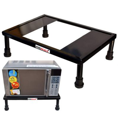 Primax Heavy Gi Metal Universal Microwave Oven Fix Stand for Kitchen Platform - Floor (Up to 30L)