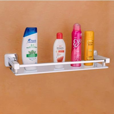 Plantex High Grade Stainless Steel Bathroom Shelf/Kitchen Shelf/Bathroom Shelf and Rack/Bathroom Accessories (16 X 5 Inches)