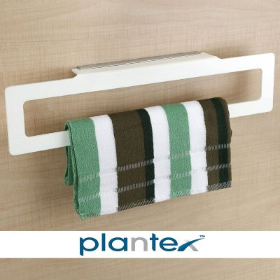 Plantex Square Acrylic Towel Hanger Bar Bathroom Accessories for Home (18 Inch, White)