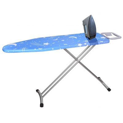 Plantex Extra Wide Adjustable Height Ironing Stand/Folding Ironing Board with Steam Iron Rest - Blue-1