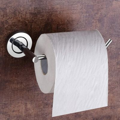 Plantex Stainless Steel Toilet Paper Roll Holder/Toilet Paper Holder in Bathroom/Kitchen/Bathroom Accessories (Chrome)