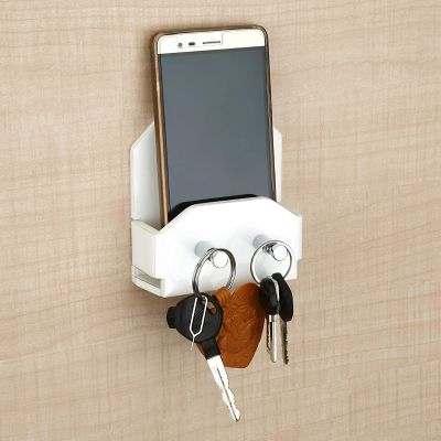 Plantex Mobile Phone Stand/Holder for Smartphones with Key Stand/Key Holder for Home & Office