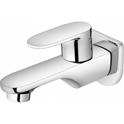 Plantex Pure Brass Orna Bib Cock with Wall Flange for Bathroom and Kitchen - Quarter Turn Tap (ORN-201)